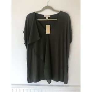 Michael Kors   Ivy Green Blouse Size Large